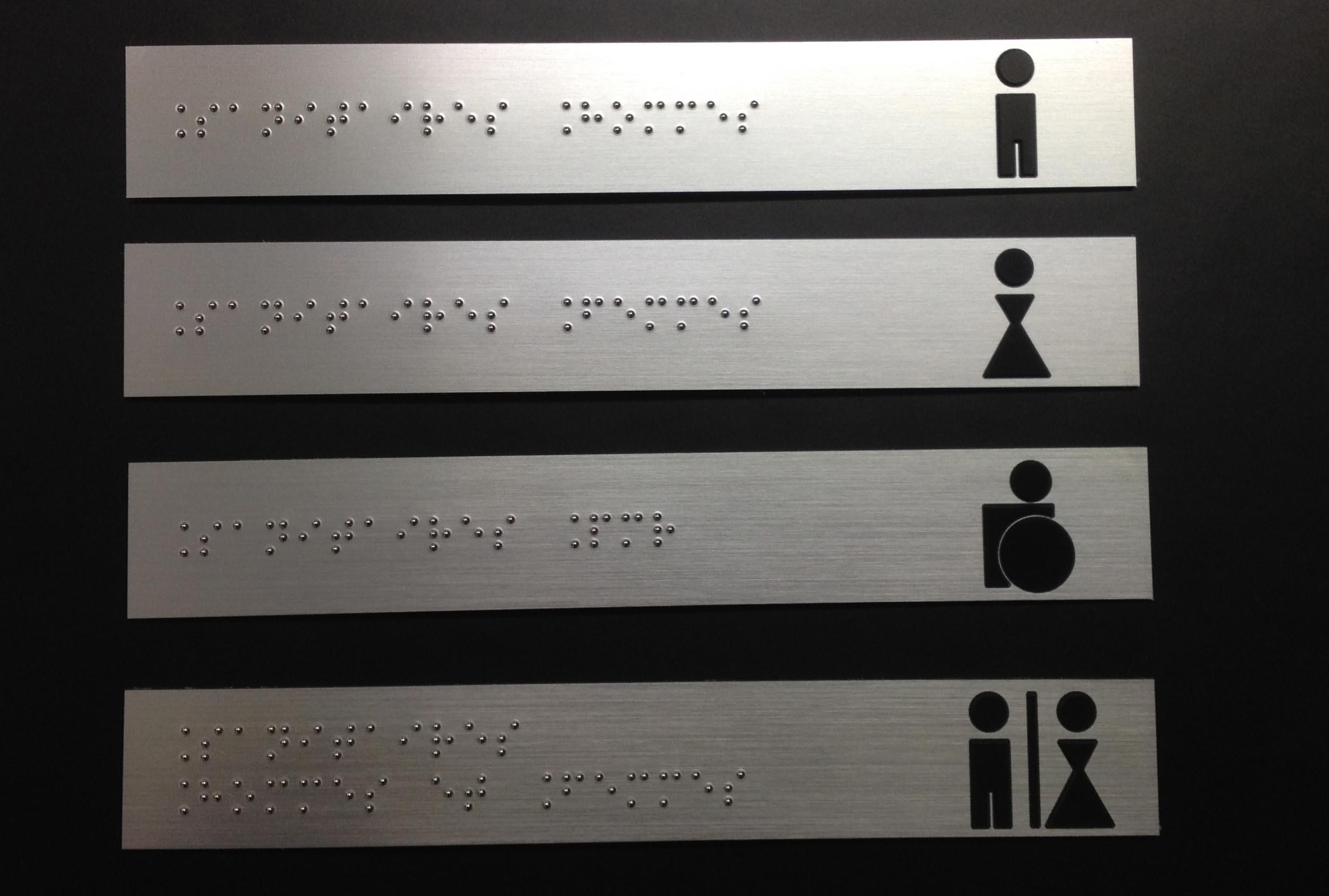 plaque braille